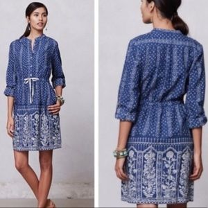 Anthropologie Meadow Rue Button up Dress